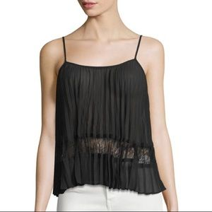 BCBGeneration || Pleated Lace Camisole